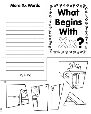 What Begins With Xx? Mini-Book - Printable Worksheet