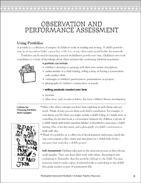 Using Portfolios: Teacher Reference - Printable Worksheet