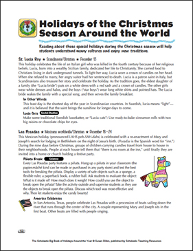 Winter Holidays Around the World - Printable Worksheet