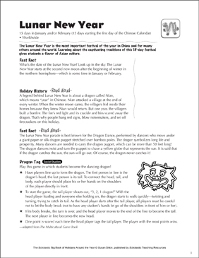 Lunar New Year: Holiday Ideas - Printable Worksheet
