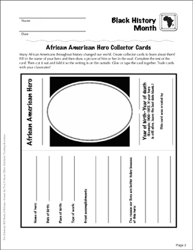 Black History Month: Holiday Ideas - Printable Worksheet