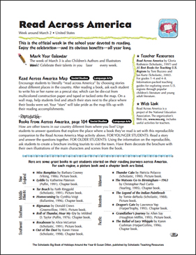 graphic regarding Read Across America Printable identified as Study Throughout The united states: Holiday vacation Options Printable Lesson Applications