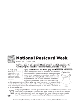 National Postcard Week: Holiday Ideas - Printable Worksheet