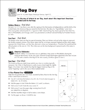 Flag Day: Holiday Ideas - Printable Worksheet