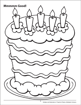 Mmmmm Good! Holidays and Celebrations Coloring Page - Printable Worksheet