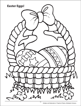 Easter Eggs! Holidays and Celebrations Coloring Page - Printable Worksheet