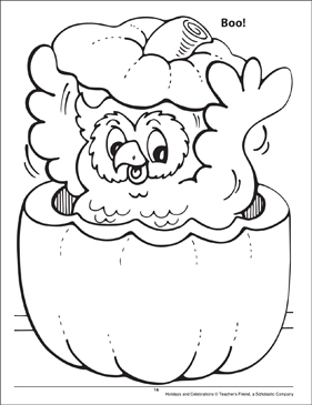 Boo! Holidays and Celebrations Coloring Page - Printable Worksheet