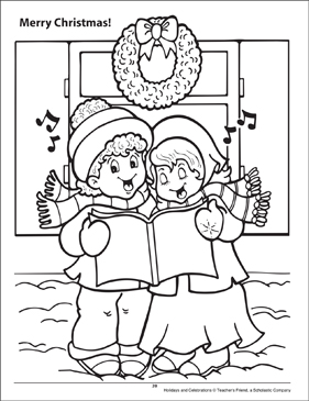 Merry Christmas! Holidays and Celebrations Coloring Page - Printable Worksheet