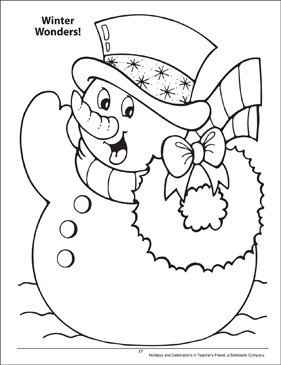 Winter Wonders! Holidays and Celebrations Coloring Page - Printable Worksheet