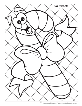 So Sweet! Holidays and Celebrations Coloring Page - Printable Worksheet