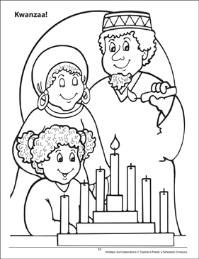 Kwanzaa! Holidays and Celebrations Coloring Page - Printable Worksheet