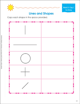 Week 2 Summer Express Between  PreK and K - Printable Worksheet