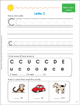 Week 4: Summer Express Between  PreK and K - Printable Worksheet