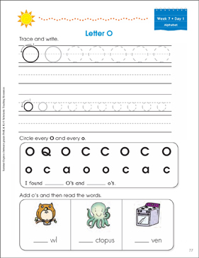 Week 7: Summer Express Between  PreK and K - Printable Worksheet