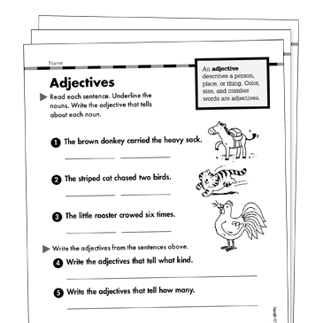 Adjectives Grade 1 Collection | Printable Leveled Learning ...