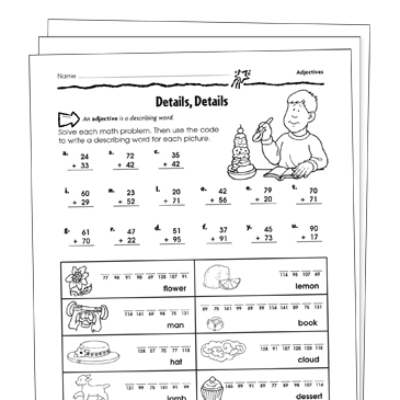 Adjectives Grade 2 Collection | Printable Leveled Learning ... on free worksheets using adjectives, free printable vocabulary worksheets, free printable analogy worksheets, preschool adjective worksheets, fun adjective worksheets, free printable distributive worksheets, free printable language worksheets, free printable esl worksheets adult, free printable comma worksheets, free printable idiom worksheets, adverb worksheets, free printable predicate worksheets, free printable consonant worksheets, printable number bingo worksheets, free printable suffix worksheets, free printable compound words worksheets, free printable simile worksheets, amazing adjective worksheets, printable months of the year worksheets, free printable grammar worksheets,