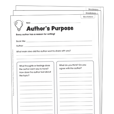 Author's Purpose Grade 3 Collection | Printable Leveled ...