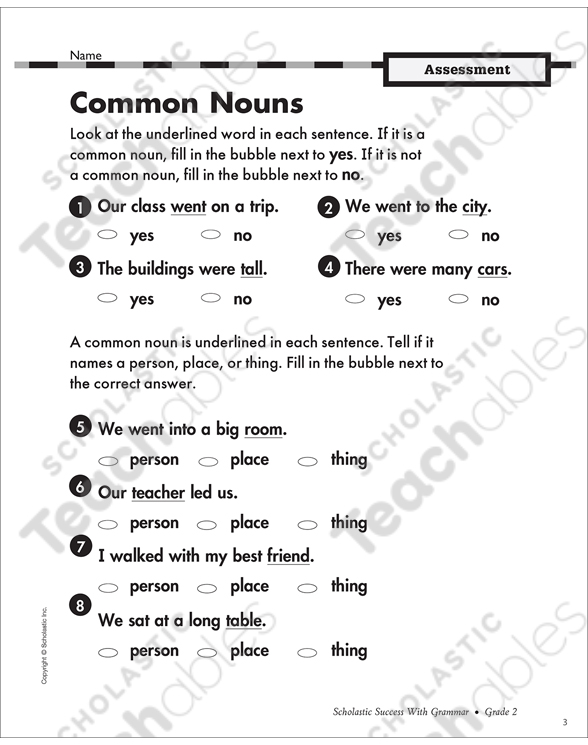 Mon And Proper Nouns Grade 3 Collection Printable Leveled. See Inside. Worksheet. Worksheet Works Proper Nouns At Mspartners.co