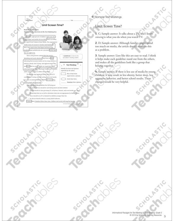 Fact And Opinion Grade 4 Collection Printable Leveled Learning