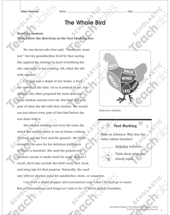 Making Inferences Grade 4 Collection | Printable Leveled Learning