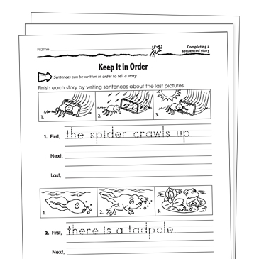Sequencing Grade 1 Collection | Printable Leveled Learning ...