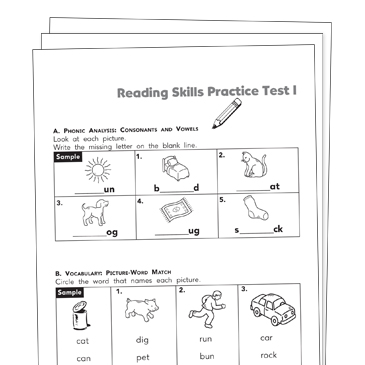Reading Test Prep Grade 1 Collection | Printable Leveled ...