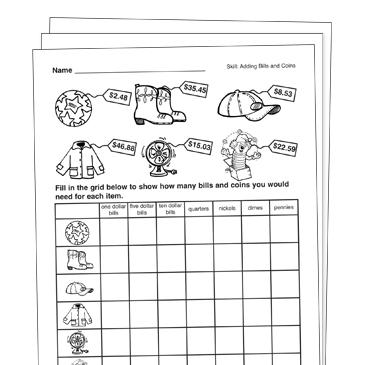 money grade 3 collection printable leveled learning. Black Bedroom Furniture Sets. Home Design Ideas