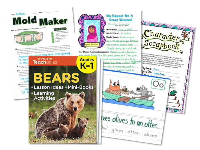 Image of science, writing, early learning, and math printables