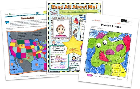 3rd Grade Math Worksheets & Practice Pages From Scholastic